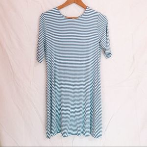 Old Navy Blue and White Striped T-shirt/Sundress